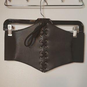 Accessories - Medium Lace-up Corset Belt Elastic Waist Cincher